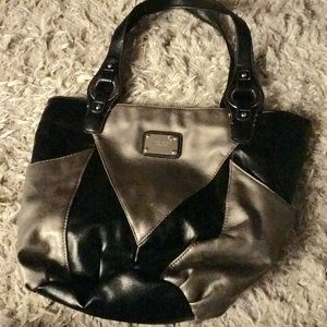 Black and Silver tote from Nine West